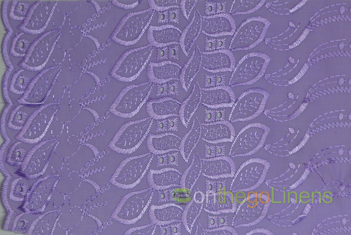 Cotton Eyelet Embroidery One Sided Scallop Yards