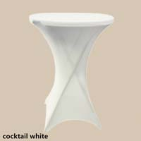 36 inch White Round High Cocktail Economic Spandex Table Cover