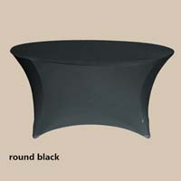 120 Round Black Economic Spandex Table Cover
