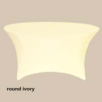 120 Round Ivory Economic Spandex Table Cover