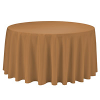 Gold 108 Round Economic Visa Polyester Style Tablecloths