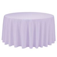 Lavender 108 Round Economic Visa Polyester Style Tablecloths