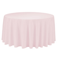 Pink 108 Round Economic Visa Polyester Style Tablecloths