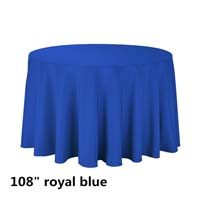 Royal Blue 108 Round Economic Visa Polyester Style Tablecloths