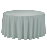 Silver 108 Round Economic Visa Polyester Style Tablecloths