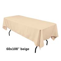 Beige  60X108 Economic Visa Polyester Style Tablecloths