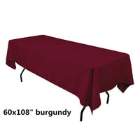 Burgundy  60X108 Economic Visa Polyester Style Tablecloths