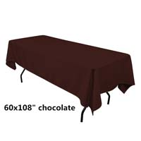 Chocolate  60X108 Economic Visa Polyester Style Tablecloths
