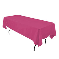 Fuchsia 60X108 Economic Visa Polyester Style Tablecloths