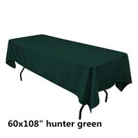 Hunter Green  60X108 Economic Visa Polyester Style Tablecloths