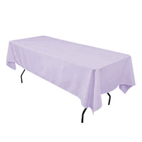 Lavender 60X108 Economic Visa Polyester Style Tablecloths