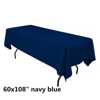 Navy Blue  60X108 Economic Visa Polyester Style Tablecloths