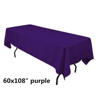 Purple  60X108 Economic Visa Polyester Style Tablecloths