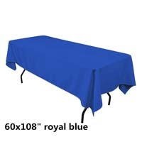 Royal Blue  60X108 Economic Visa Polyester Style Tablecloths