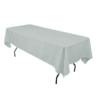 Silver 60X108 Economic Visa Polyester Style Tablecloths