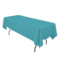 Turquoise 60X108 Economic Visa Polyester Style Tablecloths