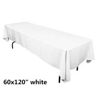 White 60X120 Economic Visa Polyester Style Tablecloths