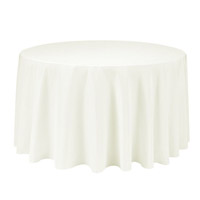 Ivory 90 Round Economic Visa Polyester Style Tablecloths