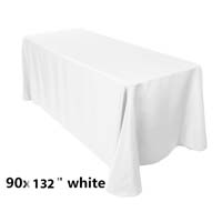 90x132 White Economic Visa Polyester Style Table Drapes