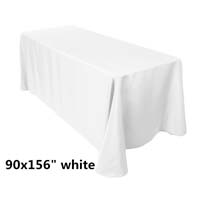 90x156 White Economic Visa Polyester Style Table Drapes