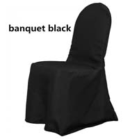 Black Economic Visa Polyester Style Ballroom Banquet Chair Covers