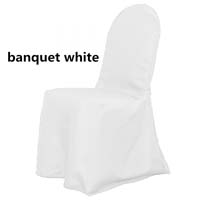 White Economic Visa Polyester Style Ballroom Banquet Chair Covers
