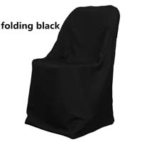 Black Economic Visa Polyester Style Folding Chair Covers
