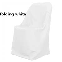 White Economic Visa Polyester Style Folding Chair Covers