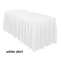 White Economic Visa Polyester Style Table Skirts