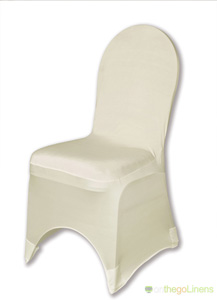 Ivory Spandex Chair Cover Ballroom Banquet Chair Covers