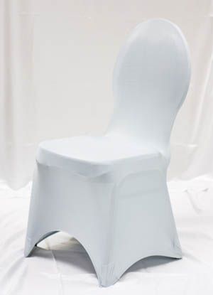 Silver Spandex Chair Cover Ballroom Banquet Chair Covers